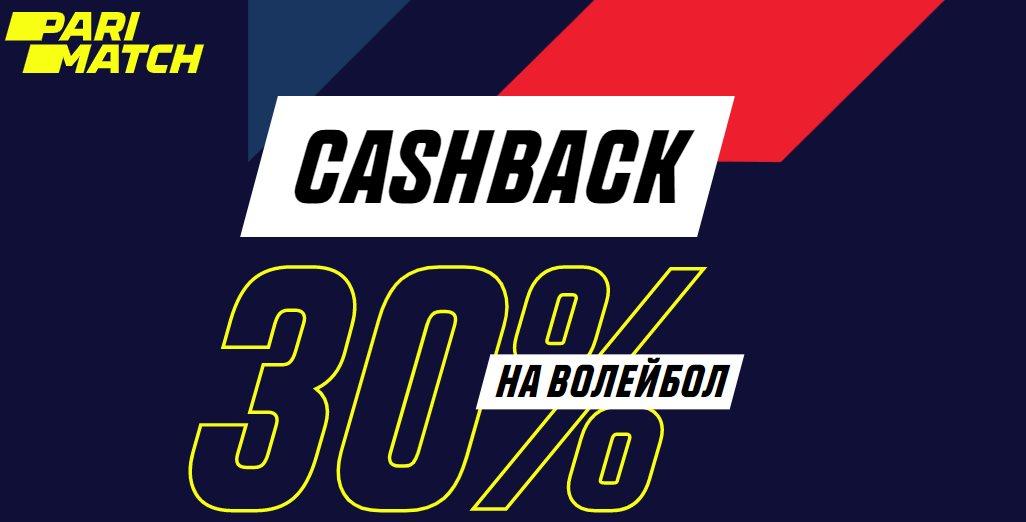 БК parimatch.ru запускает кешбэк 30% на волейбол